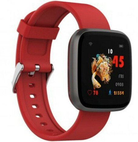 Ceas Smartwatch iUni H5, Touchscreen, Bluetooth, Notificari, Pedometru, Red
